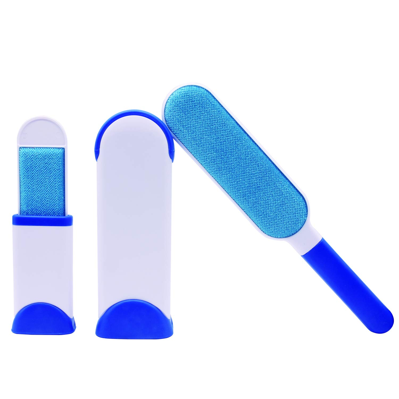 Liveda Multi-Function pet Hair Removal Brush, Double-Sided Hair Removal Cleaning Brush, cat Hair and Dog Hair Hair Removal Brush, Suitable for Clothes, Furniture and Carpet, Sofa (Blue)