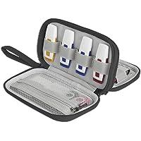 BUBM Doble Capa USB Flash Drives Estuche, Organizador de Viaje para Unidades de Disco/memorias USB/U Disk/Cables y Otros…