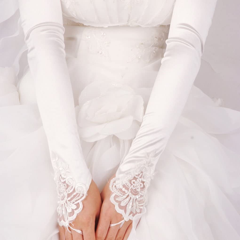 Bridal Gloves Fingerless Lace Glove for Wedding Long Accessories