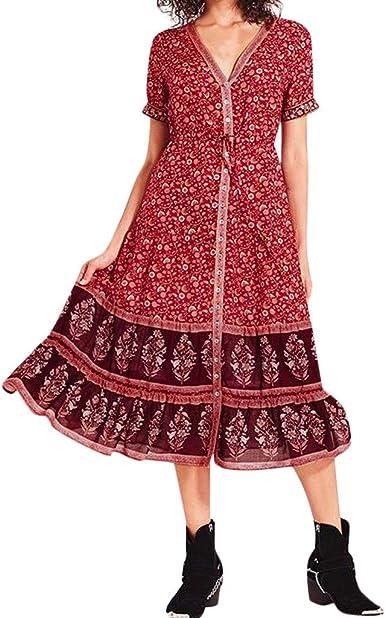 Vestido de Algodón para Mujer Talla Grande Playera de Fiesta de ...