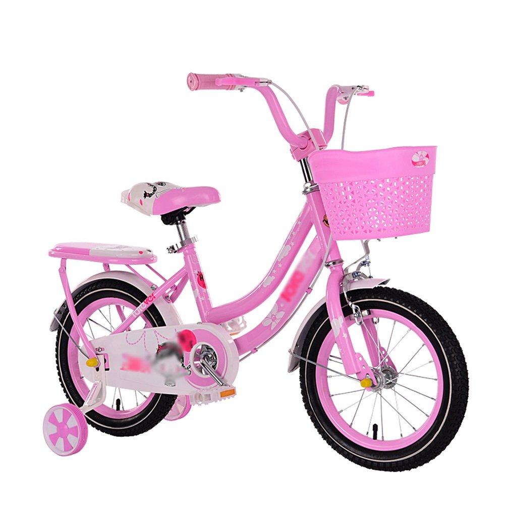 ピンクの少年と少女の赤ちゃんキャリッジペダル子供の自転車2-3-6-7-8-10歳12 14 16 18インチ自転車 B07DV5GYP9 16 inch
