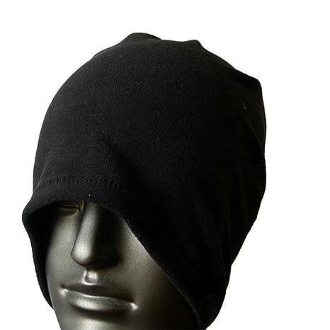 TOOGOO(R) Sciarpa scaldacollo cappello di vello unisex termica Sci  Snowboard - Nero e74b7c7349bb