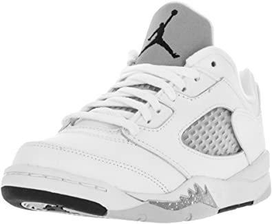 Amazon.com | Jordan Nike 5 Retro Low GP White/Wolf Grey/Black ...