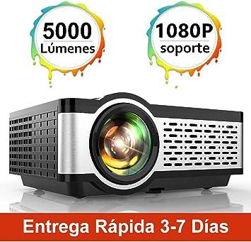 Proyector, TOPTRO 5000 Lúmenes Mini Portátil Proyector de Cine en ...
