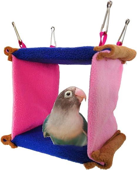 Juguete Para Cama De Pájaros Para Parakeet Cockatiel Conure Lovebird Finch Parrots Cage Perch M Mascotas