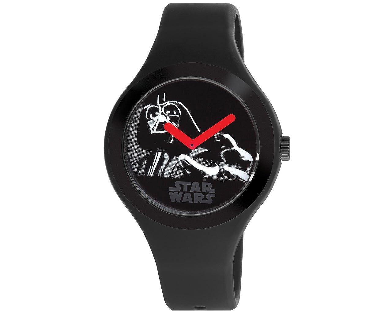 Amazon.com: AM: PM Star Wars Darth Vader negro unisex reloj ...