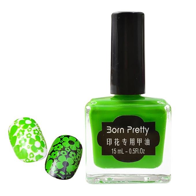 Born Pretty - Esmalte de uñas especial para estampación y pulido, 15 ...
