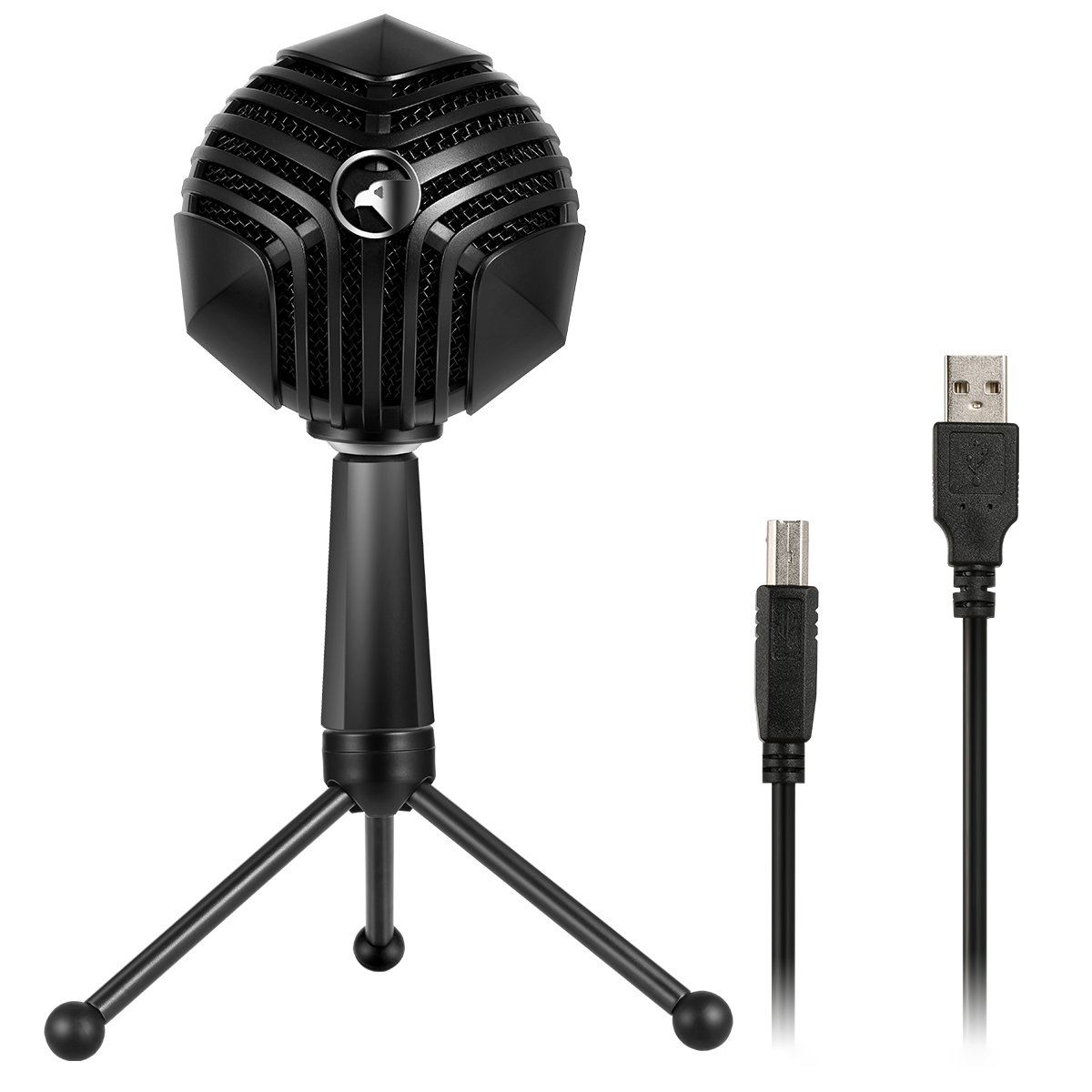 Persevere Condenser Microphone Gaming Mic, Multi-Pattern USB Recording Microphone, 360° Streamer Gamer Microphone for Computer, PC, Laptop, Mic for Recording, Gaming, Chatting, YouTube