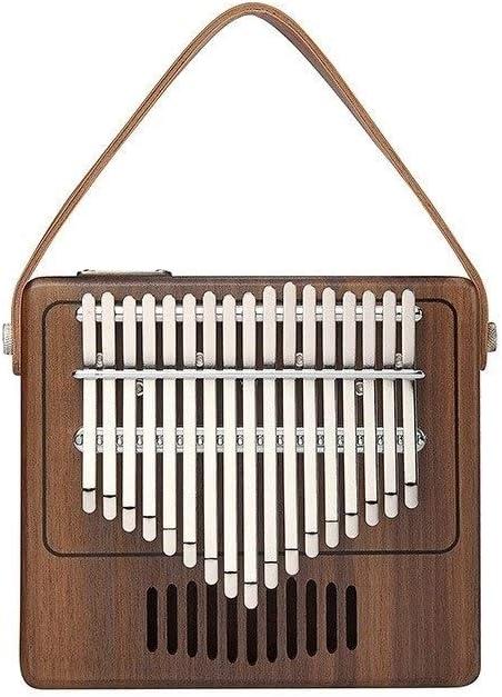 DCSPD 17キーカリンバ親指ピアノ、ピュアクルミで作られた、美しいトーン、簡単に運ぶために、習得が容易な、 (色 : Wood color)