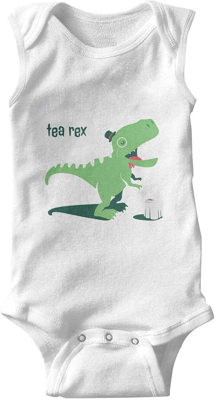 Dinosaurs Singers Baby Onesies Sleeveless Natural Organic Romper Set for Toddler