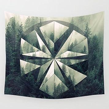 Amazon.com: Bosque geométrico círculo mandala polyscape ...
