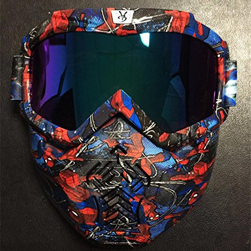 DZW Neue Harley Retro Gesichtsmaske Goggles Cross Country Helme Schutzbrillen Outdoor Sport Motorrad Schutzbrillen , color -1