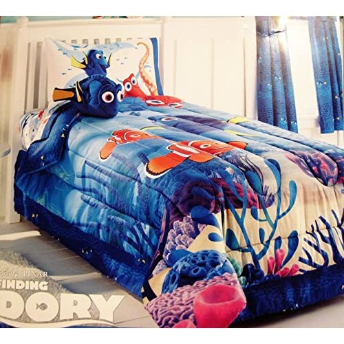 Jumping Beans Disney Finding Dory Twin Comforter and Sheet Set Bundle for cheap