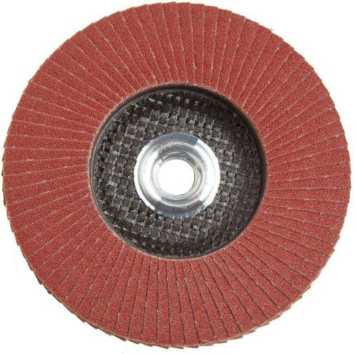 PFERD Polifan SG Abrasive Flap Disc, Type 27, Threaded Hole, Phenolic Resin Backing, Aluminum Oxide, 5 Dia., 80 Grit (Pack of 1)