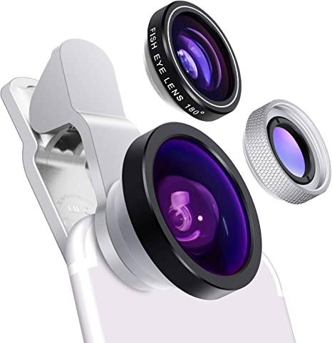 Cell Phone Camera Lens Yarrashop 3 In 1 Hd Clip On Lens Kit For 180 Degree Fisheye Lens 0 4x Wide Angle Lens 10x Macro Lens For Iphone Xs Max