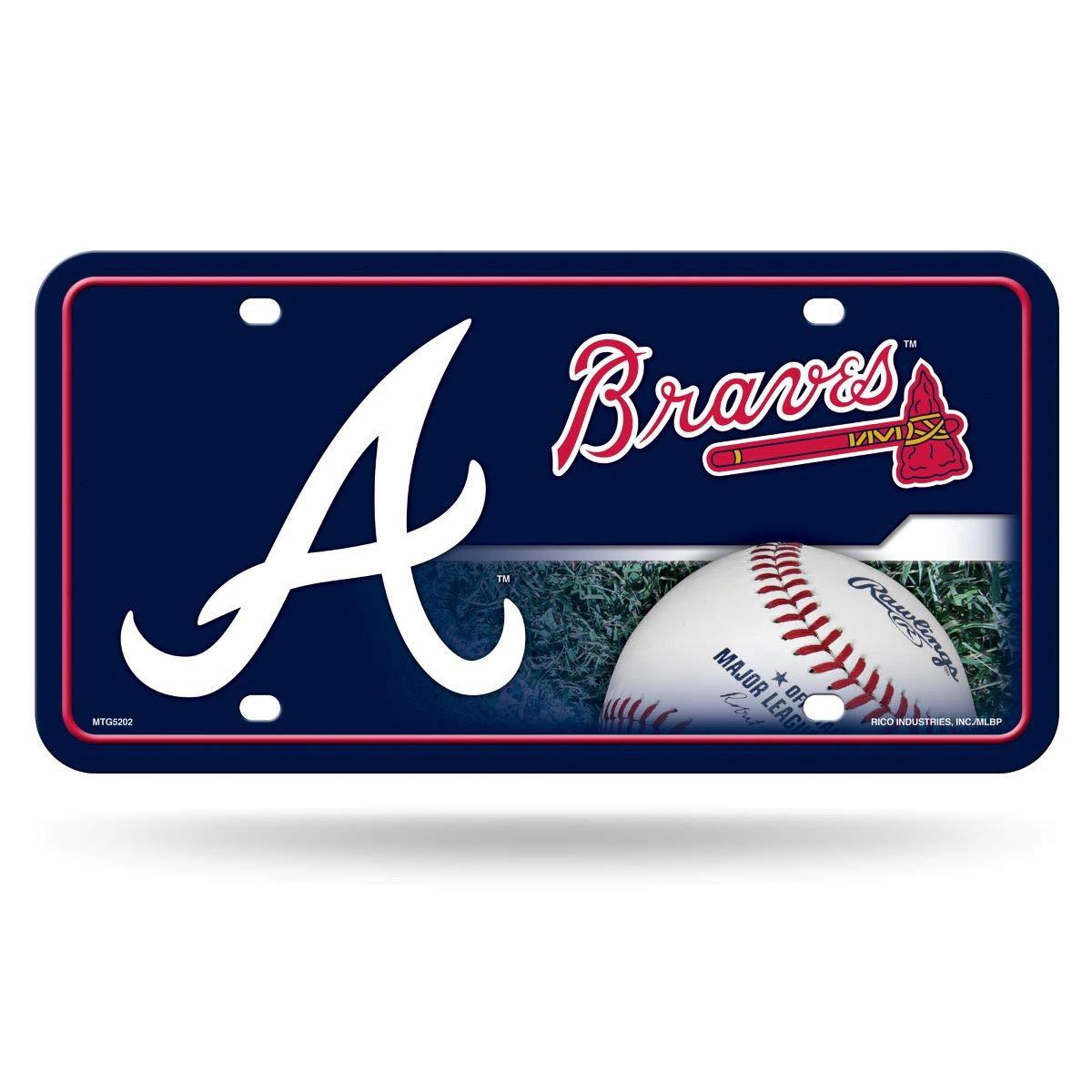 Rico Industries Atlanta Braves A Logo Metal License Plate