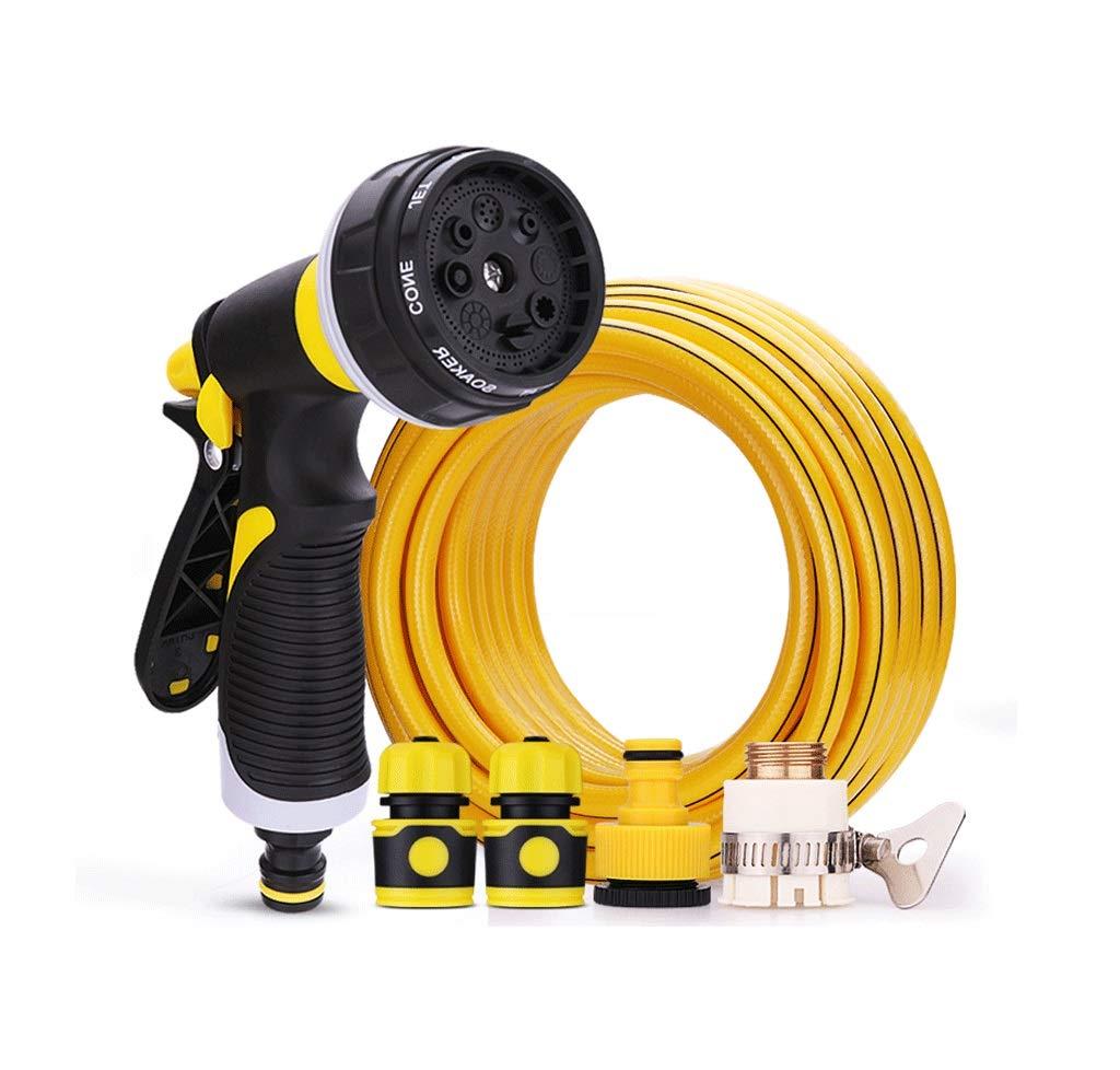 家庭用洗車ホース 散水管、多機能スプレーガン、洗車、散水スプリンクラー、ガーデニングガーデン高圧スプレーウォーターガンセット 庭の灌漑 (版 ばん : Suit(15m)) B07RVF3JYM  Suit(15m)