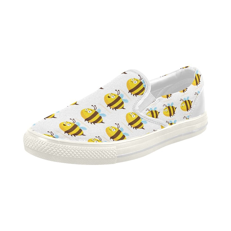 93b358b019d2 Shoes Fat Honeybee Beehive Pattern Slip-on Canvas Loafer For Women on sale