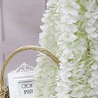20 Pack 3.3 Feet/Piece Artificial Fake Wisteria Vine Hanging Garland Silk Flowers String for Wedding Party Garden…