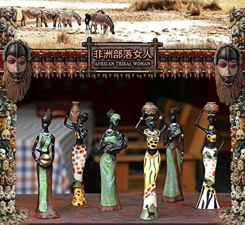 TBW African Tribal Women Collectible Figurines for Mother's Gifts,Green,Pack of 3 by TBW (Image #6)