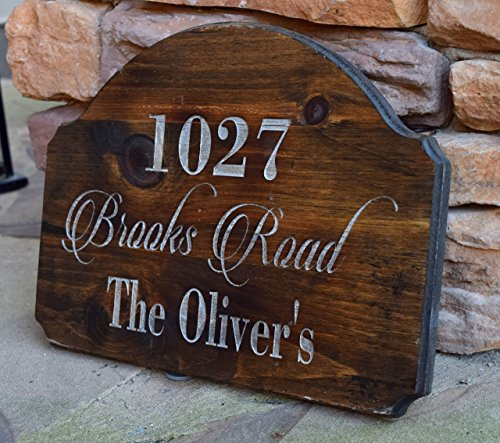 Sign Custom Address Plaque (Address Sign - Address Plaque - Rustic Home Decor - Personalized Gift - Outdoor Address Sign - Family Established Sign - Engraved Address)
