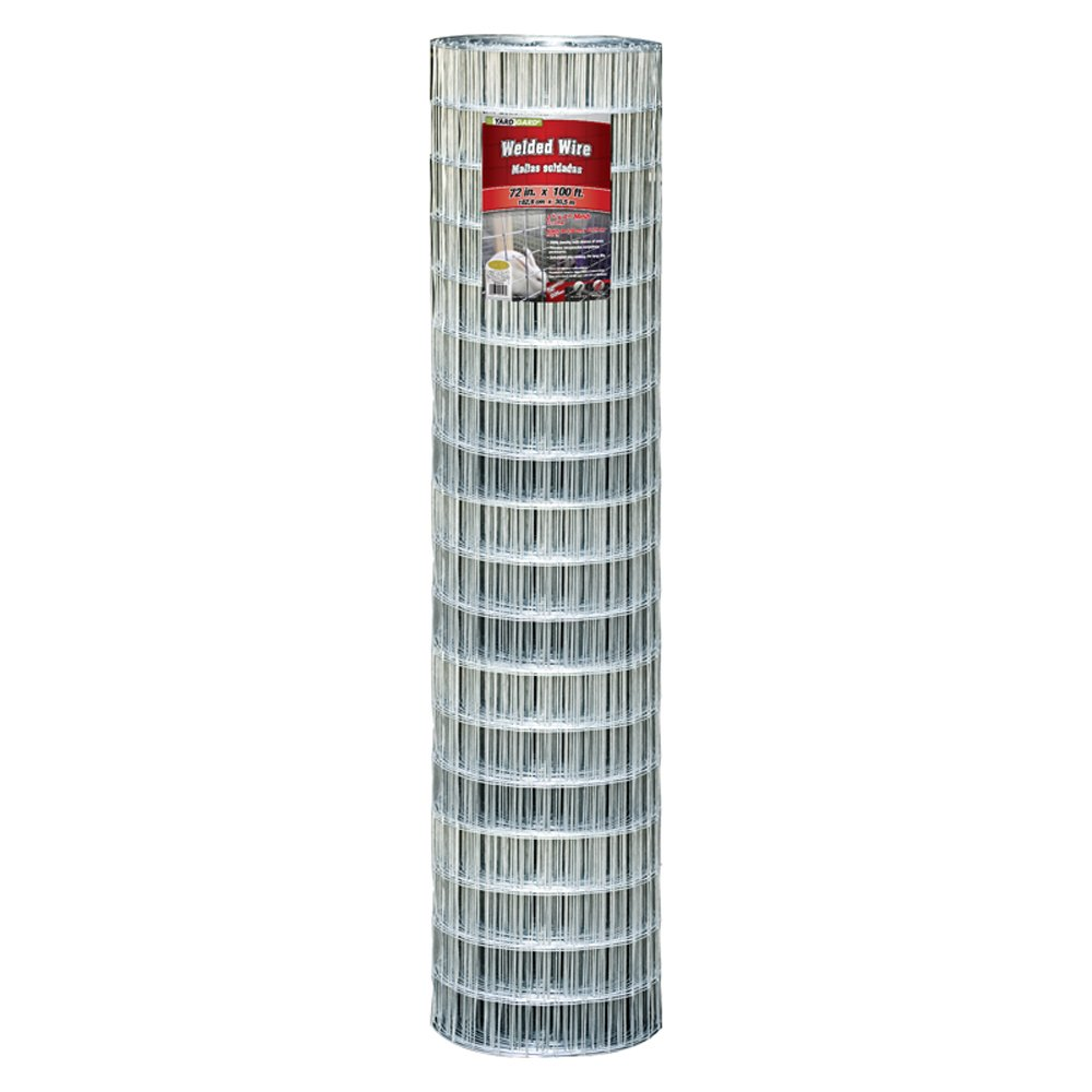 YARDGARD 308324A 72 inch by 100 foot 12.5 gauge 2 inch by 4 inch mesh galvanized welded wire