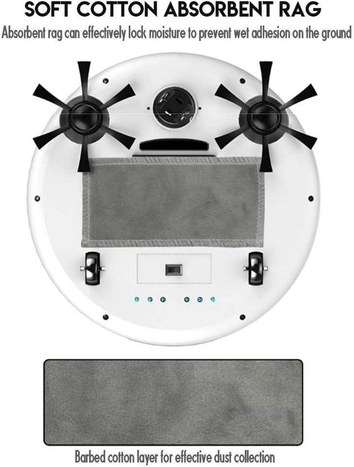 Hummla Aspirateurs intelligents Rechargeables Robot 4 en 1 3200pa USB Auto Smart Sweeping Dry Wet Mop Stérilisateur UV Sweeper à Forte Aspiration, Blanc Rose White Pink