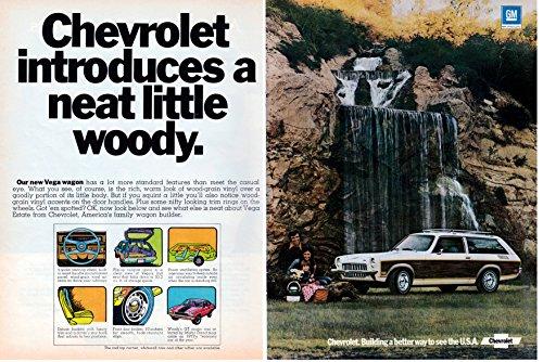 1973 Chevrolet Vega Wagon Original 2 Page Magazine - Chevrolet Vega Wagon