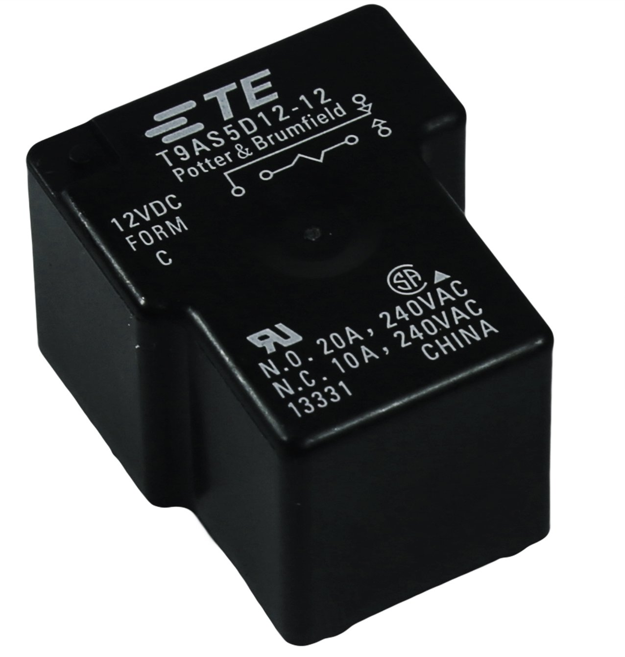 TYCO T9AS5D12-12 POTTER & BRUMFIELD SPDT 1 Form-C 12V RELAYS