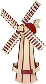 product image for DutchCrafters Decorative Poly Two-Tone Windmill (Large, Ivory/Cherrywood)