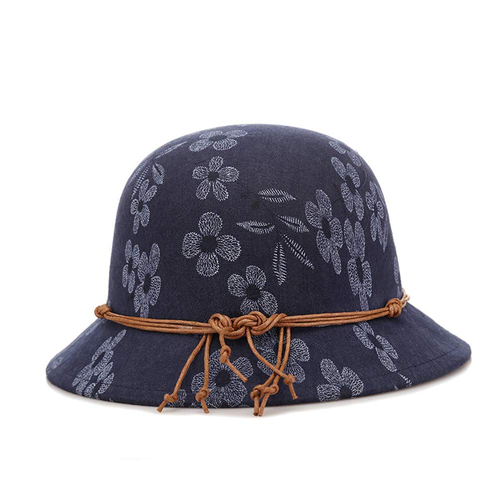 d899fa5579c ChenXi Store Fashion Hats Ladies Hats caps Round face Winter Hats Autumn  and Winter Flowers Hats Keep Warm at Amazon Women s Clothing store