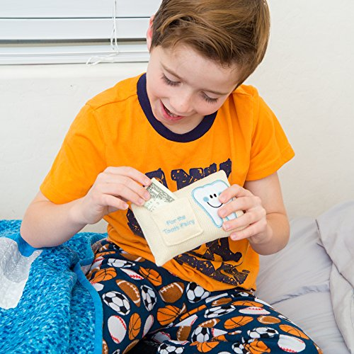 CHERISHED KID Tooth Fairy Pillow Kit for Boys with Pouch and Letter Note – Keepsake Box Makes it a Great Gift Idea for Kids by E-Com Highway (Image #7)