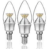 KINDEEP E14 LED lampadine candela, 5W 480LM, lampada alogena 50W equivalente, bianco caldo 2700K, (SES) angolo di fascio a 360 °, 220-240V, 3-Pack [Classe energetica A +]angolo di fascio a 360 °, 220-240V, 3 pezzi [Classe energetica A +