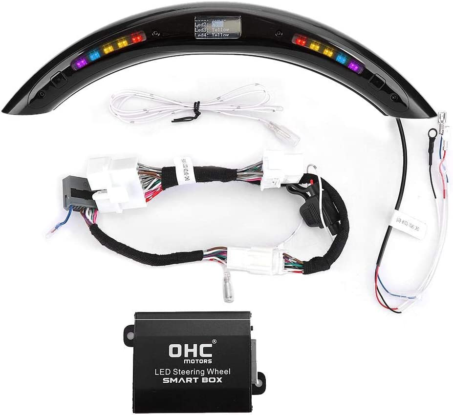Outbit Lenkrad Led Anzeige Mit Intellignet Module Kit Universelles Zubehör Für Led Lenkrad Auto