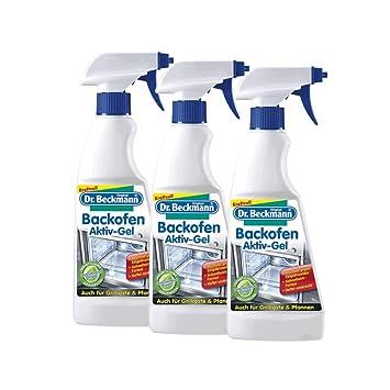 3 x 375 ml spray de Dr. Beckmann horno gelbotella - también para parrillas del