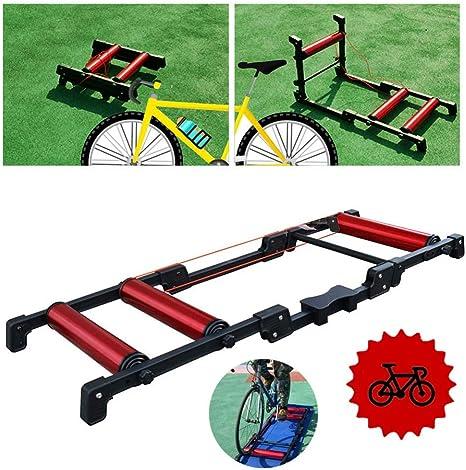 Entrenador bicicleta plegable - Entrenador turbo bicicleta - Entrenador bicicleta interior Rodillos bicicleta plegables - Entrenador soporte entrenamiento bicicleta Rodillo ciclismo carretera MTB Es: Amazon.es: Deportes y aire libre