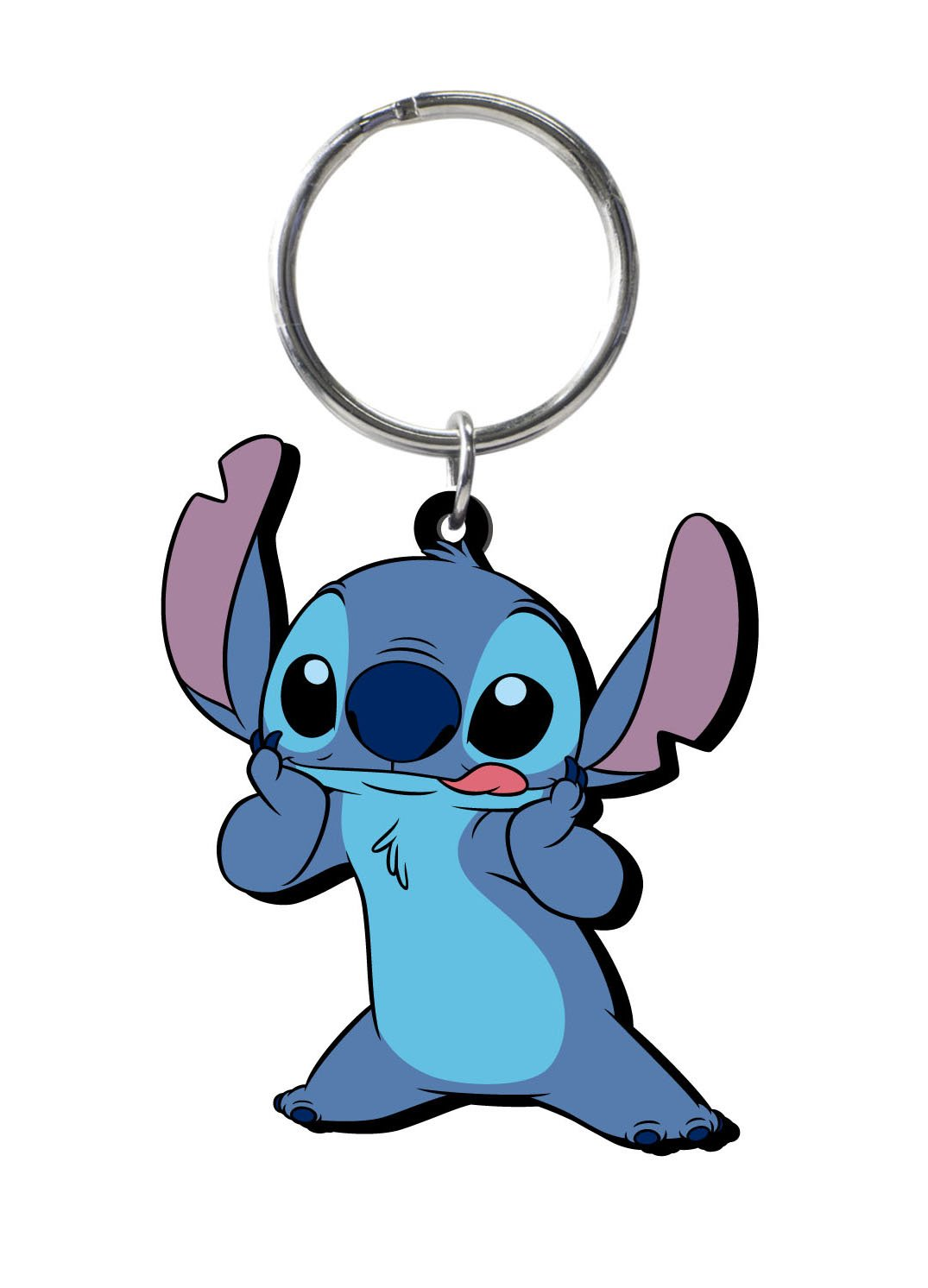 Disney Stitch Soft Touch PVC Key Ring Monogram International 25089