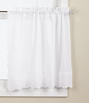 Curtains Ideas 36 inch tier curtains : Amazon.com: Lorraine Home Fashions Candlewick Tier Curtain, 60 by ...