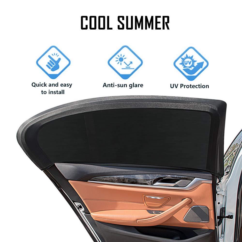 La Prime de Voiture Parasol Blocs Plus de 97/% des Rayons UV nocifs Pack 2 B/éb/é Voiture offrent une Protection Optimale Contre l/éblouissement /& Ch - Nuances de Fen/être de Voiture Pare-soleil Voiture pour B/éb/és