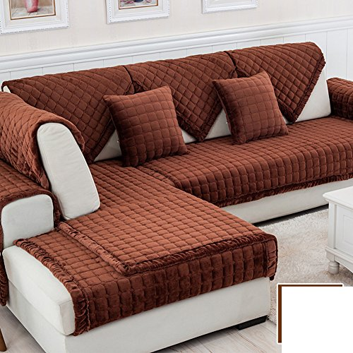 DW&HX winter Thicken Flannel plush Sofa cushions, Cover Anti-skidding Fabric Sofa cover Cushion-P 70x70cm(28x28inch) by DW&HX