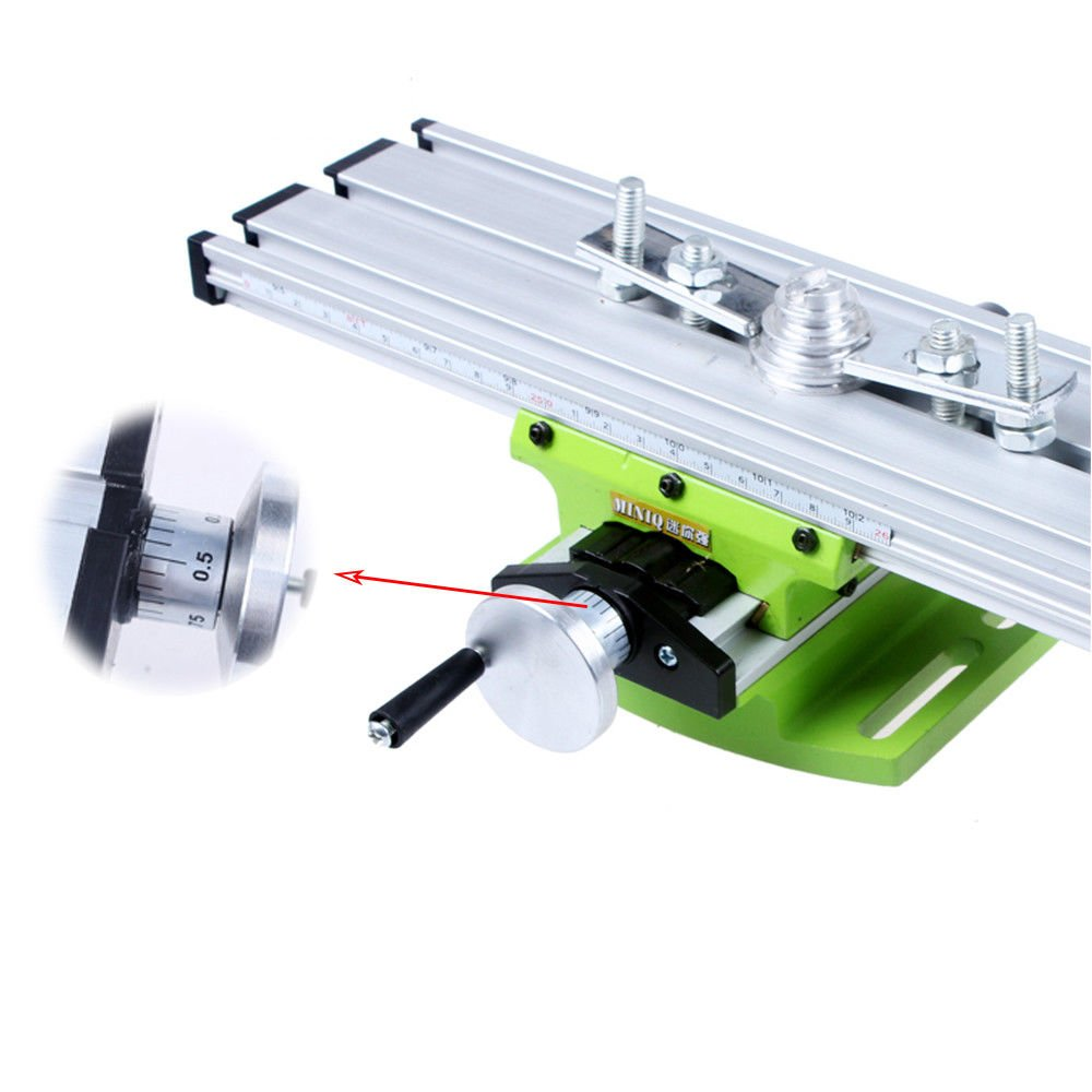 Mini Multifunctional Vise Milling Machine Working Table Worktable Compound Drilling Slide Table for Bench Drill PRIT2016