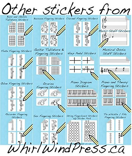 500 Sticker Pack Guitar Chord and Fingering Stickers