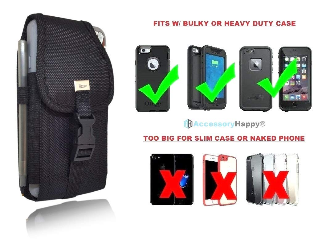 7bf9ba2ed Military Grade Cell Phone Belt Case, Rugged Outdoor Pouch Carrying Clip  Compatible w/ [iPhone 6 6S 7 8 X XR XS (4.7'')] Kyocera DuraForce PRO Sam  S7 S8 J7
