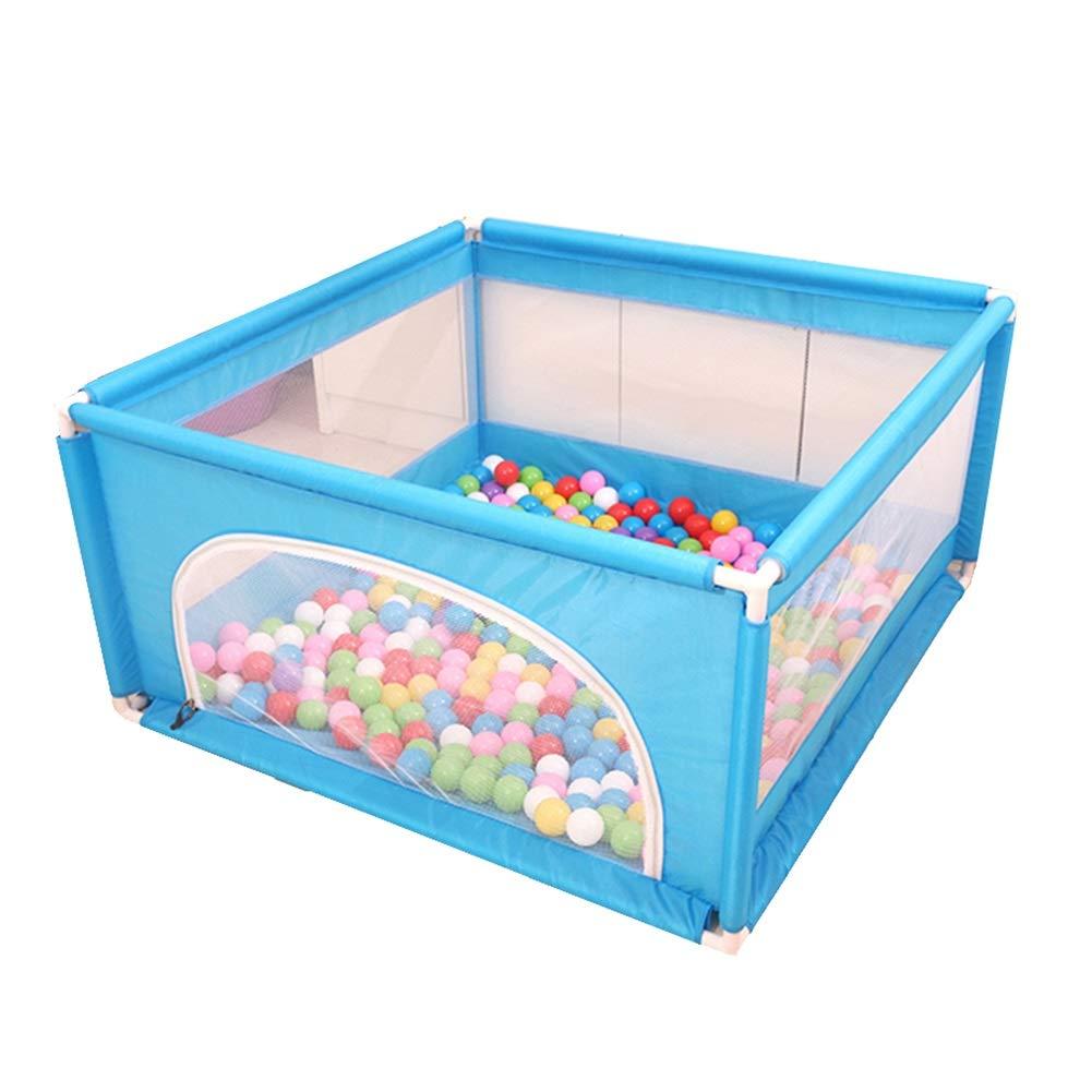 150ボールの携帯用赤ちゃんの塀、家庭用の粉々に耐性のおもちゃの家、転倒防止ガードレール遊び場62センチ高さ (Color : Blue, Size : 120×120×62cm) 120×120×62cm Blue B07T4H3LFN