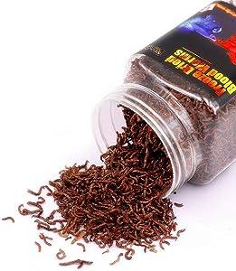 Freeze Dried Bloodworms Fish Food - 2 OZ Tropical Freshwater Betta Fish Aquatic Food