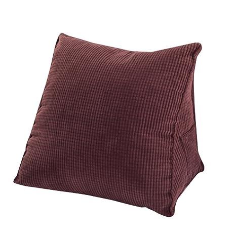 Woneart Almohadas de Lectura-Almohadas lumbares-Cojin cuña Cojines de Respaldo para sofá, Coche, Silla, Cama (Cofffee, S: 40x36x20cm)
