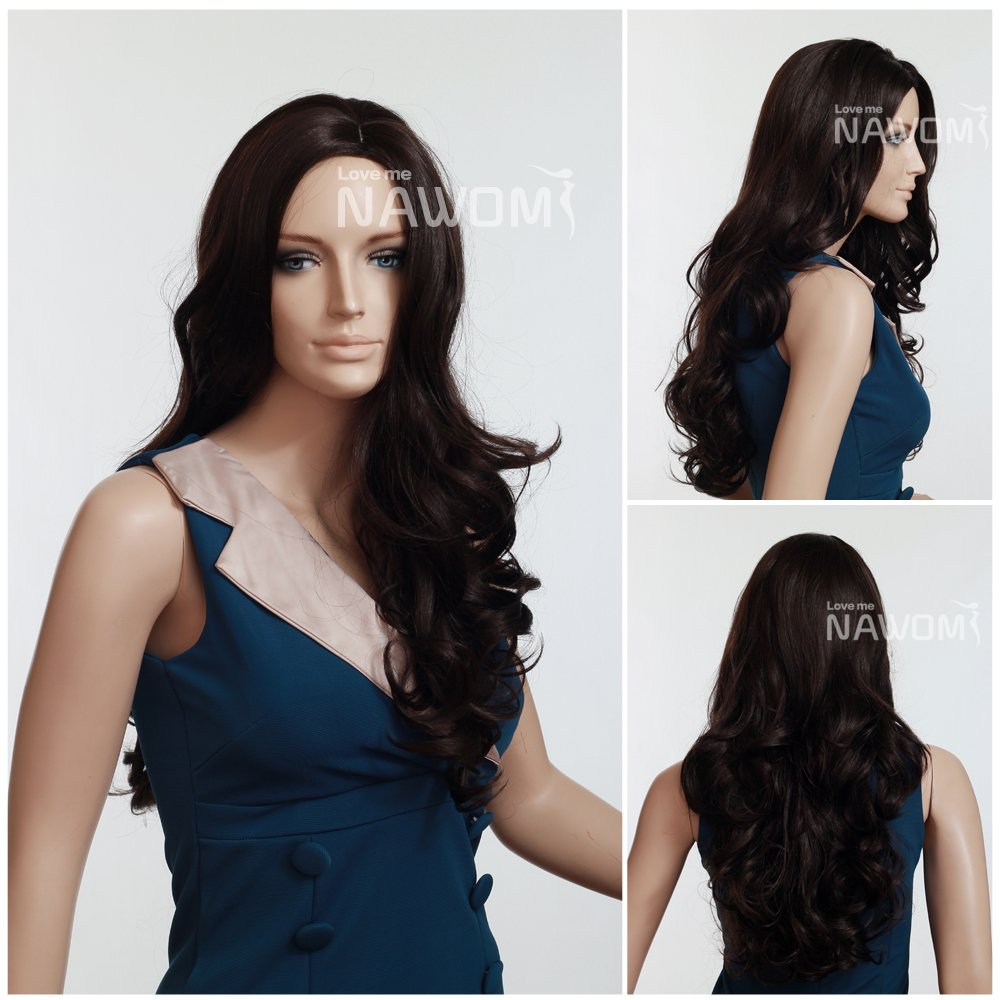 Amazon.com   Sexy Long Curly Black Hair Wig For Party Wig For Women   Hair  Replacement Wigs   Beauty 73f5b5ca07