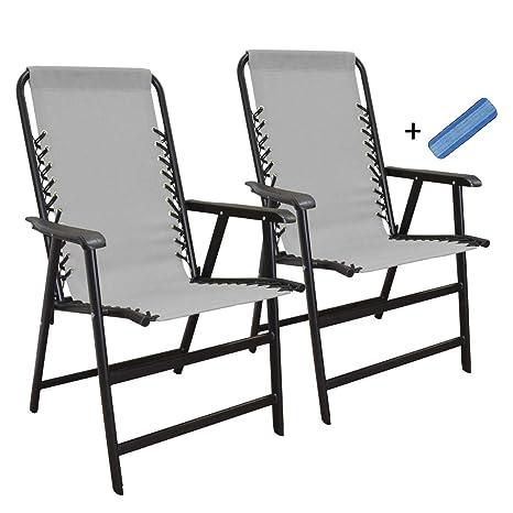 Amazon.com: Caravan Sports Suspension Folding Chair Gray ...