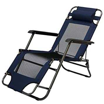 amanka chaise longue pliable pour camping et jardin transat inclinables avec repose tte couleur bleu - Jardin Transat