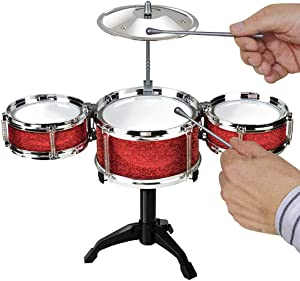Srenta Kids Desktop Drum Set | Junior Beginner Jazz Drum Kit | Rock Musical Instrument Toddlers Toy